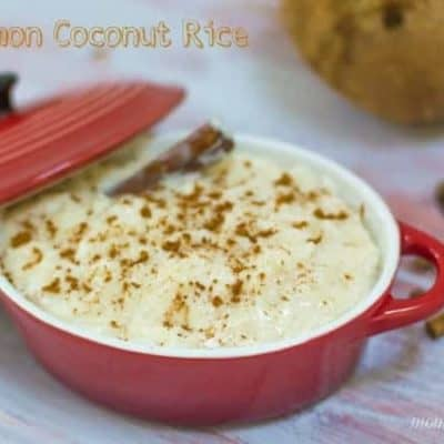 Coconut Cinnamon Rice Pudding