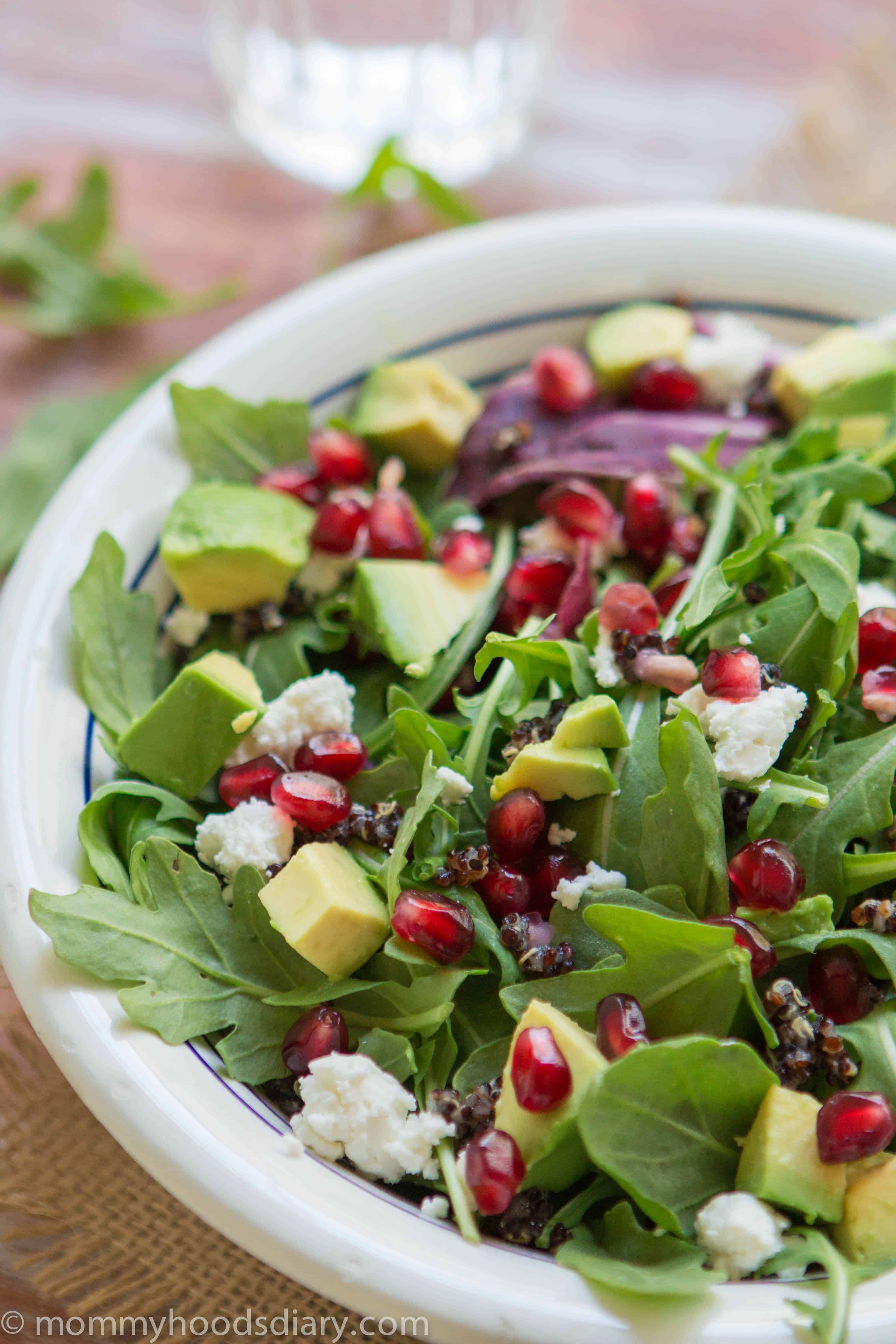 Black Quinoa, Arugula and Pomegranete -1