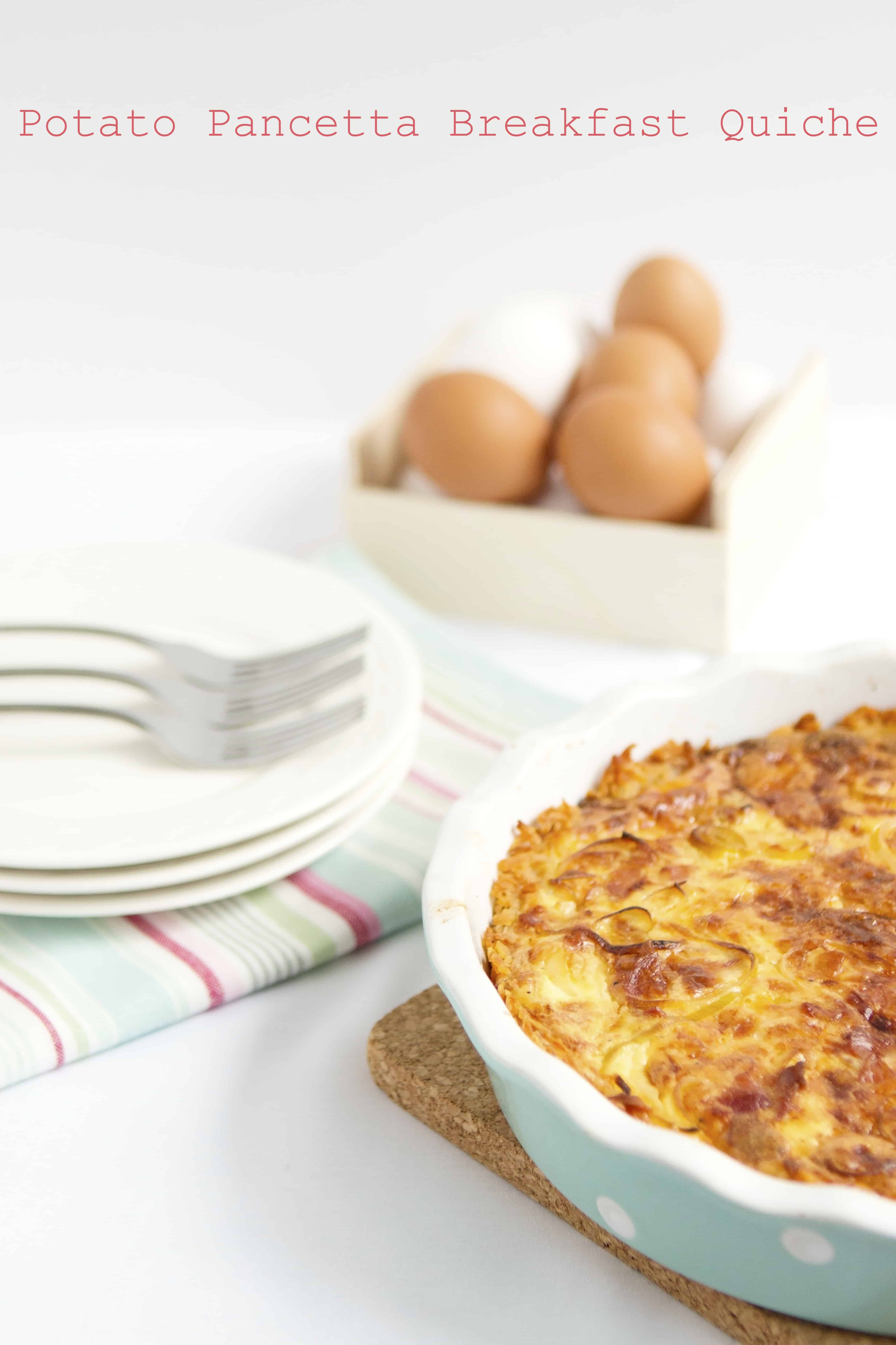 Potato Pancetta Breakfast Quiche