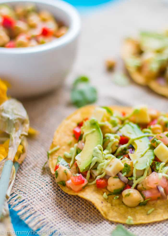 Chickpea and Avocado Tostadas