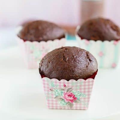 Egg- Free Chocolate Zucchini Cupcakes