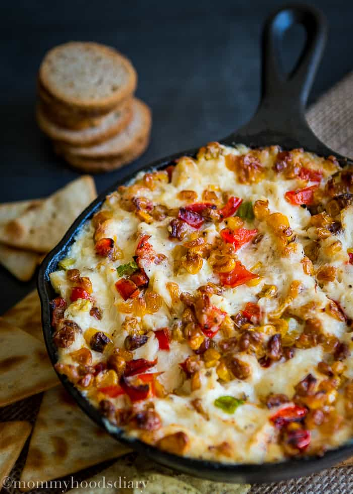 Roasted Corn and Pepper Crab Dip-8