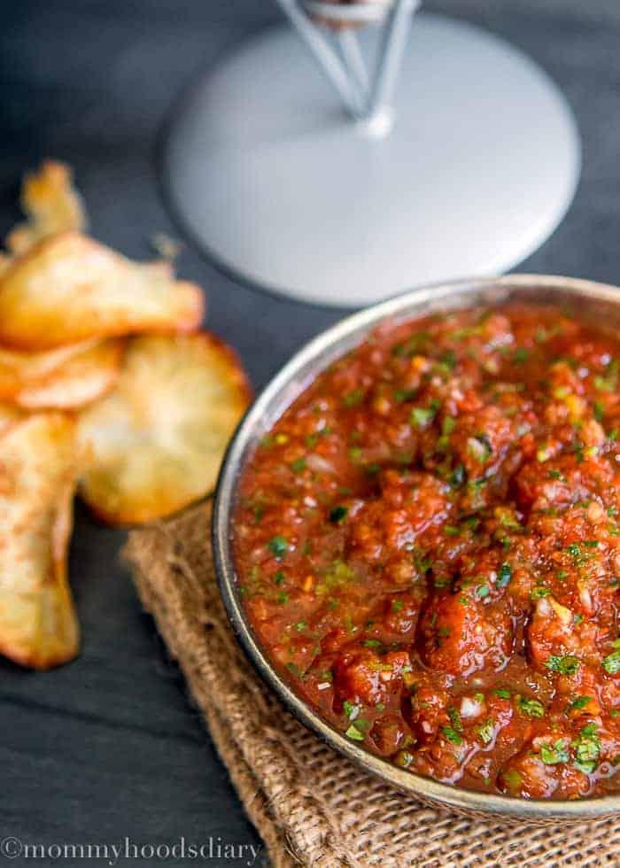 The Best Homemade Restaurant Style Salsa-3
