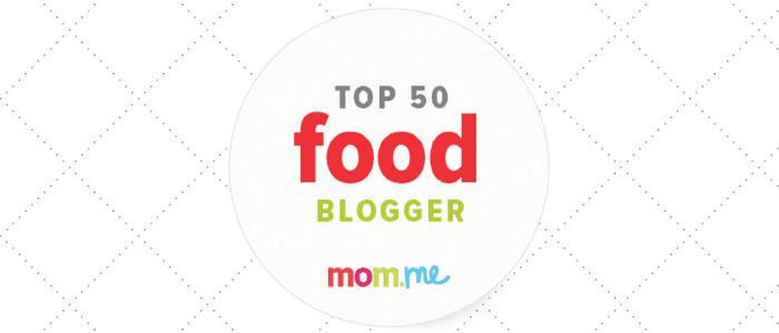 mom.me top 50 food blogger