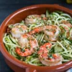Cucumber Noodles with Garlic Shrimp