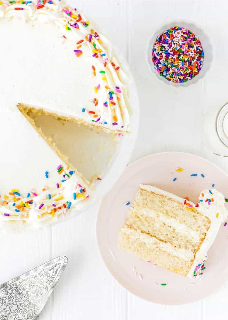 This Eggless Vanilla Cake Recipe Is The Its Sweet Ery Flavor And Light Moist Texture Make It Perfect To Celebrate Any Occasion