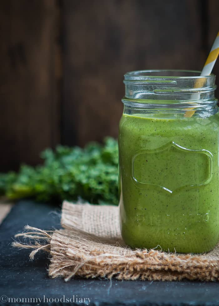 Green Protein Smoothie   Mommyhood's Diary