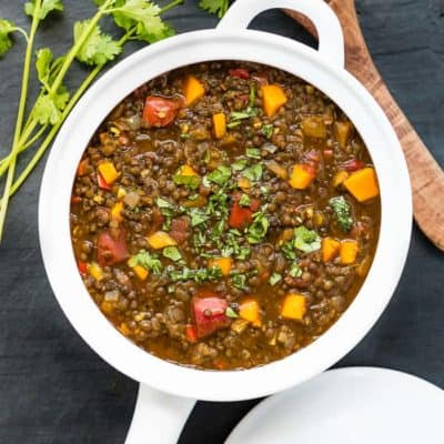 Lentils and Roasted Tomato Stew