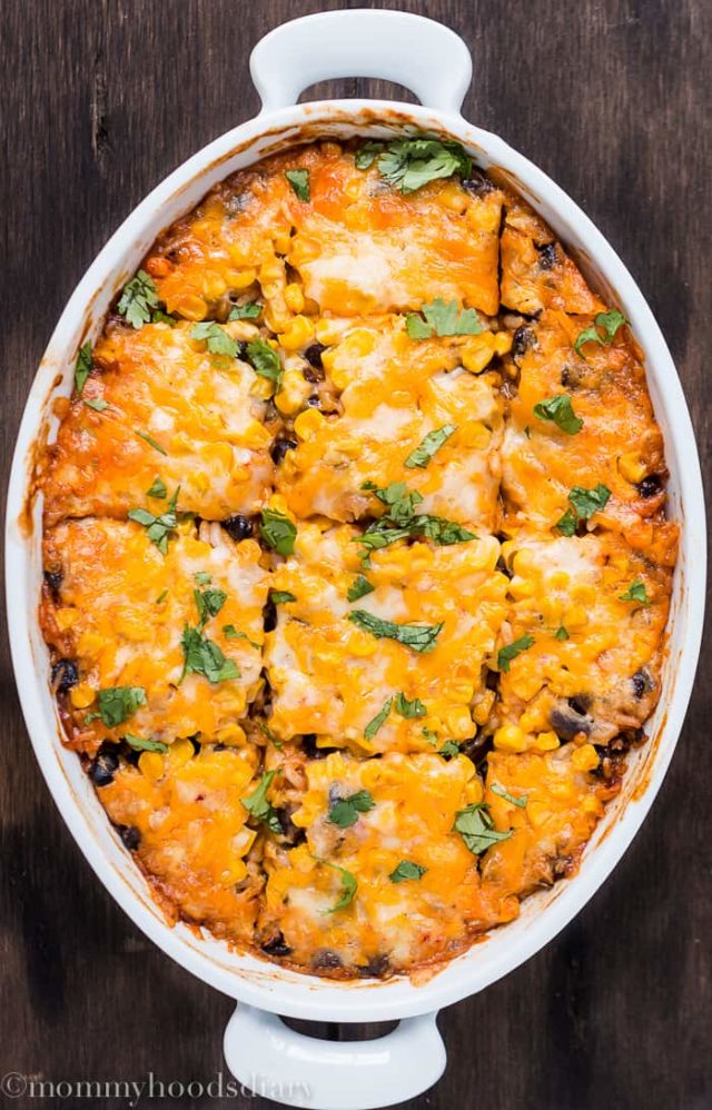 Rice and Beans Enchilados Casserole-1