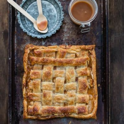 Salted Caramel Apple and Cheese Danish {Egg-Free}