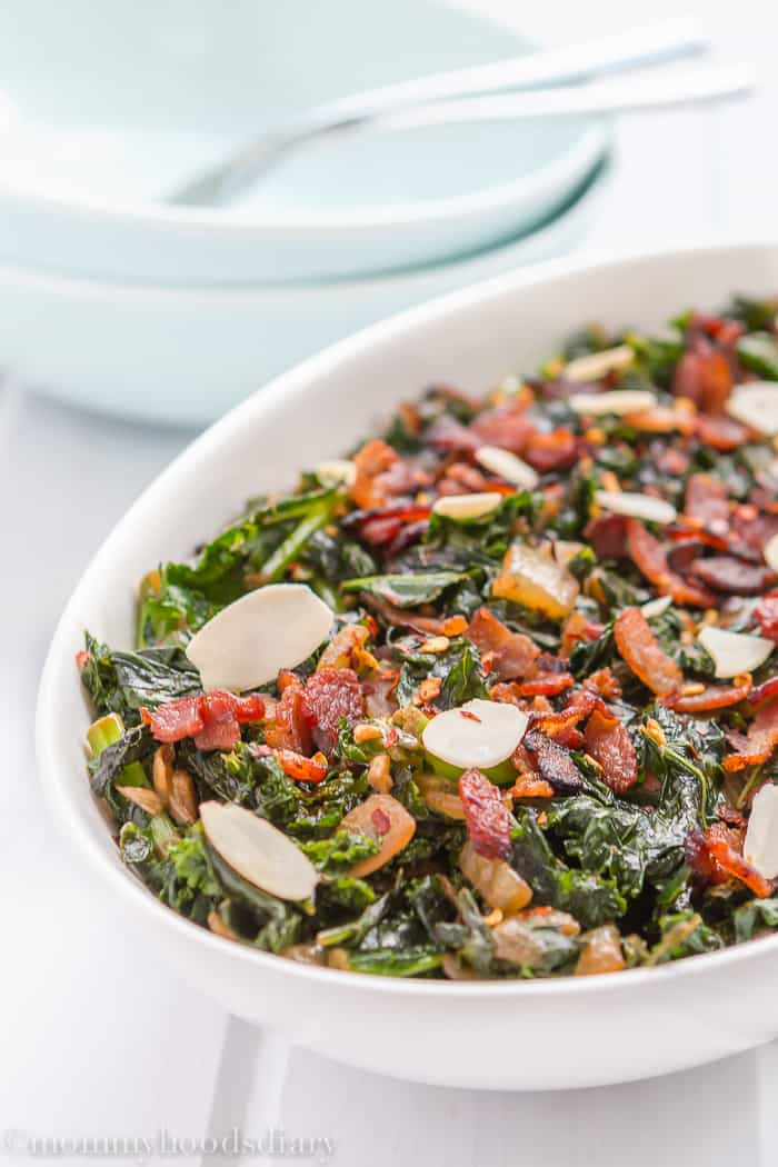 Kale, Bacon and Almonds -5