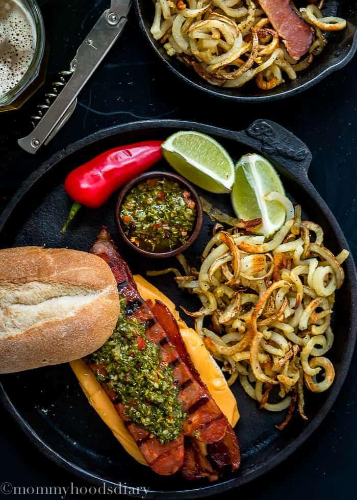 Bacon Choripan with Chimichurri Sauce | Mommyhood's Diary