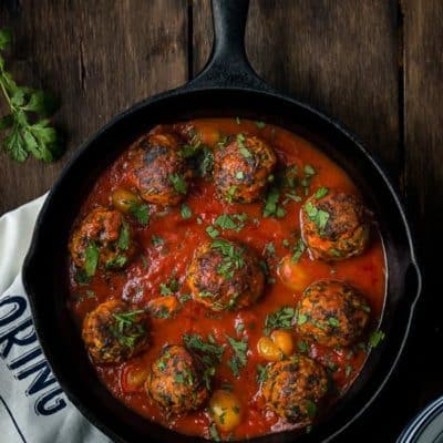 Eggless Turkey and Spinach Meatballs