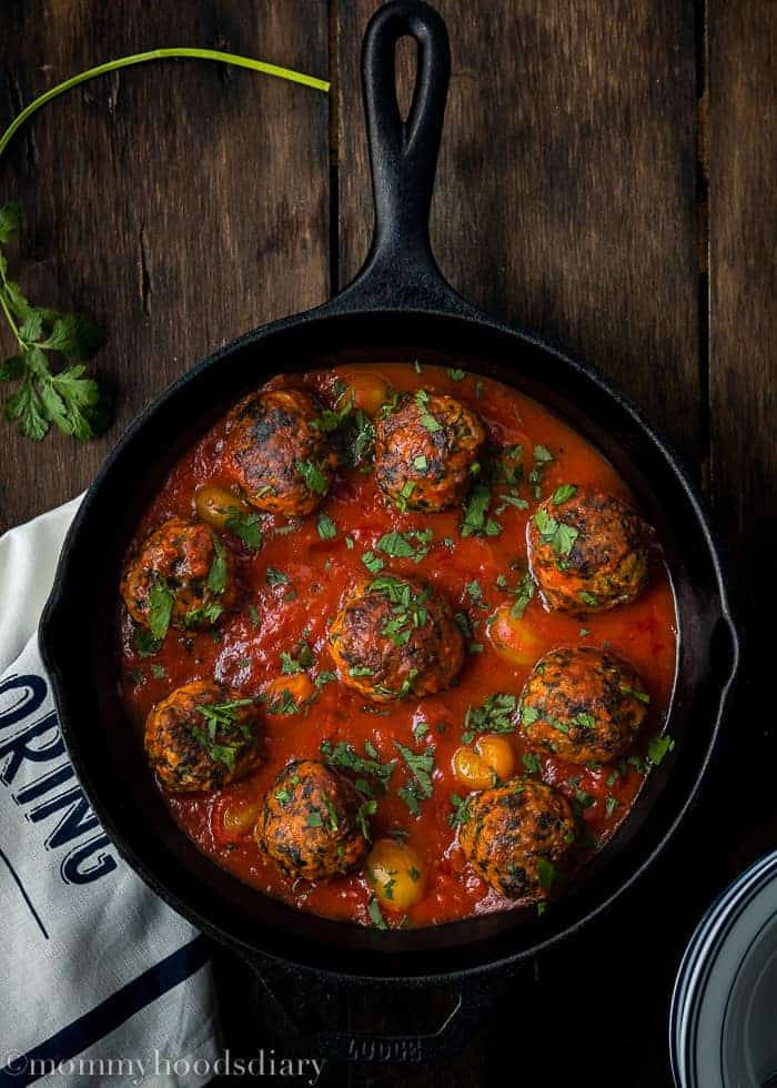 Egg-Free Turkey and Spinach Meatballs -2