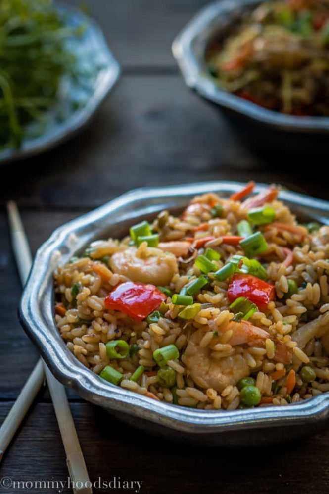 Shrimp and Bean Sprouts Fried Rice-7