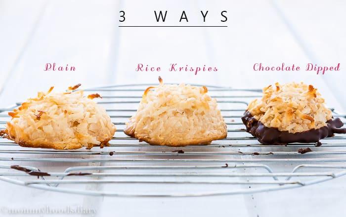 Eggless-Coconut-Macaroons-8-3-ways