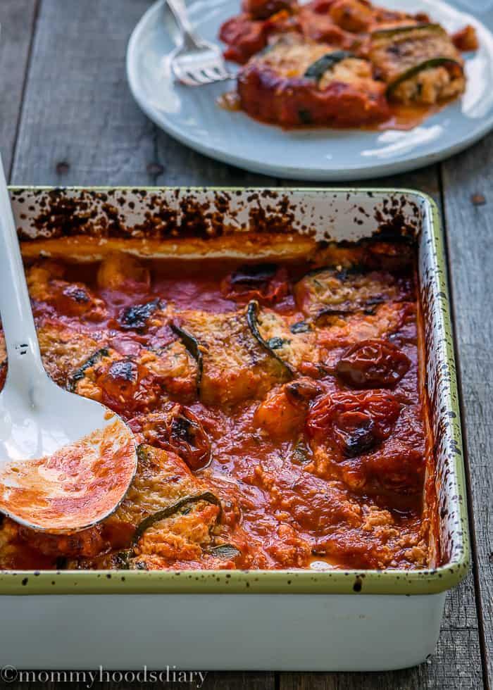 Lasagna Zucchini Rolls-4
