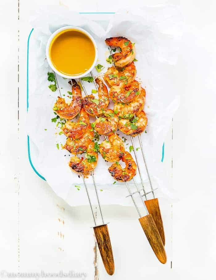 Miso Grilled Shrimp with Mustard Soy Sauce-7