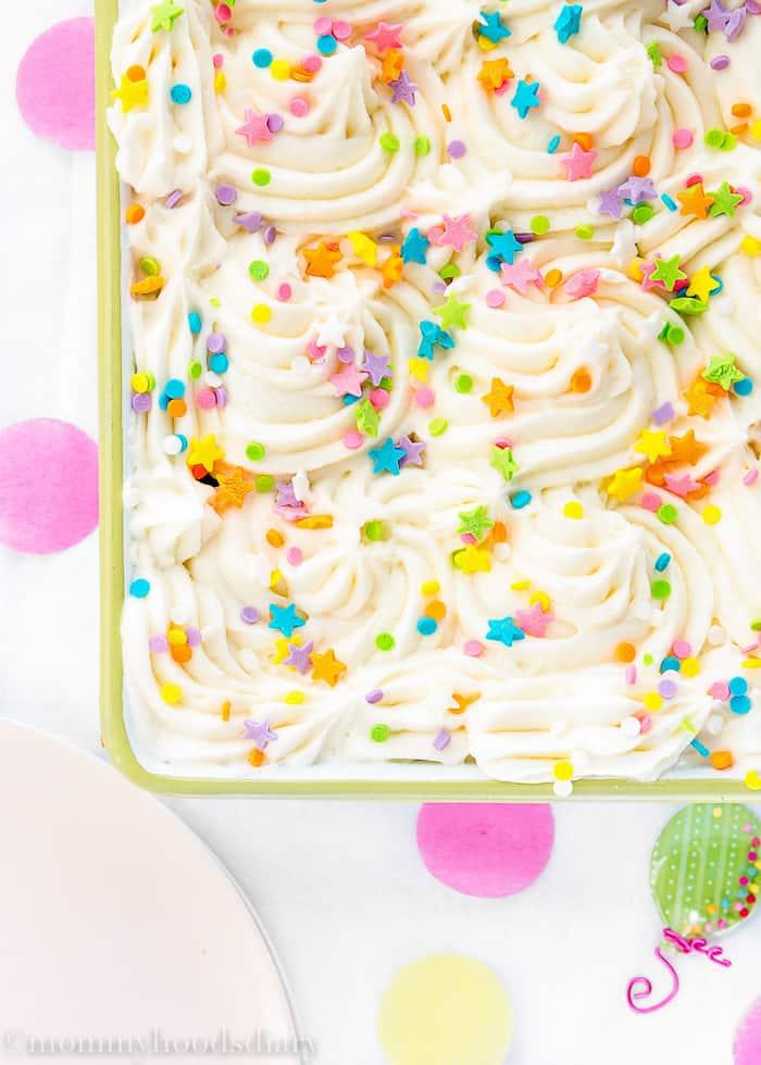 Eggless Congetti Cake-6