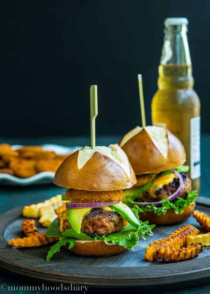 Pork Chorizo Sliders with Eggless Chipotle Mayo -1