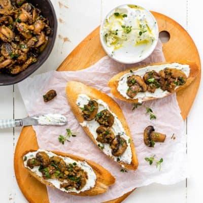 Teriyaki Garlic Mushrooms