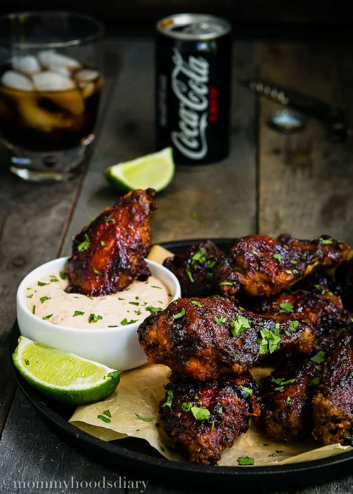 Spicy and Sweet Baked Chipotle Chicken Wings-4