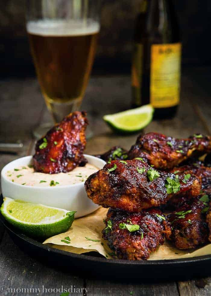 Spicy and Sweet Baked Chipotle Chicken Wings-5