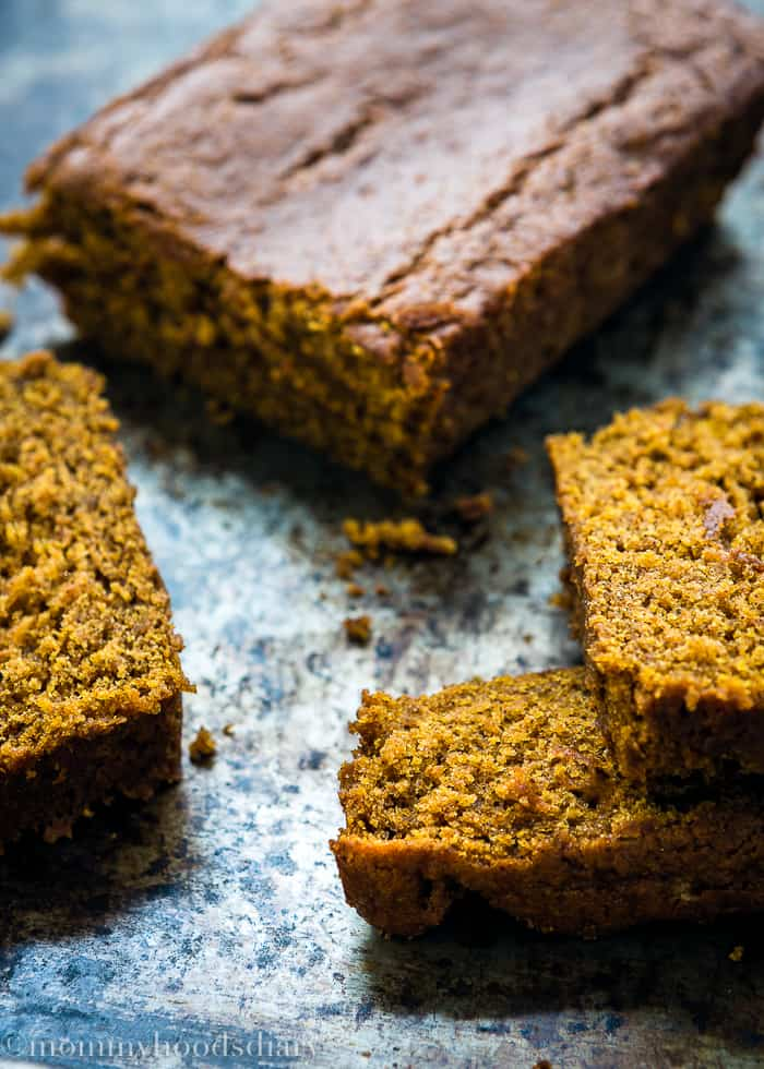 Eggless Pumpkin Bread-3