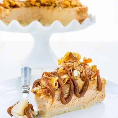 Eggless Dulce de Leche Cheesecake