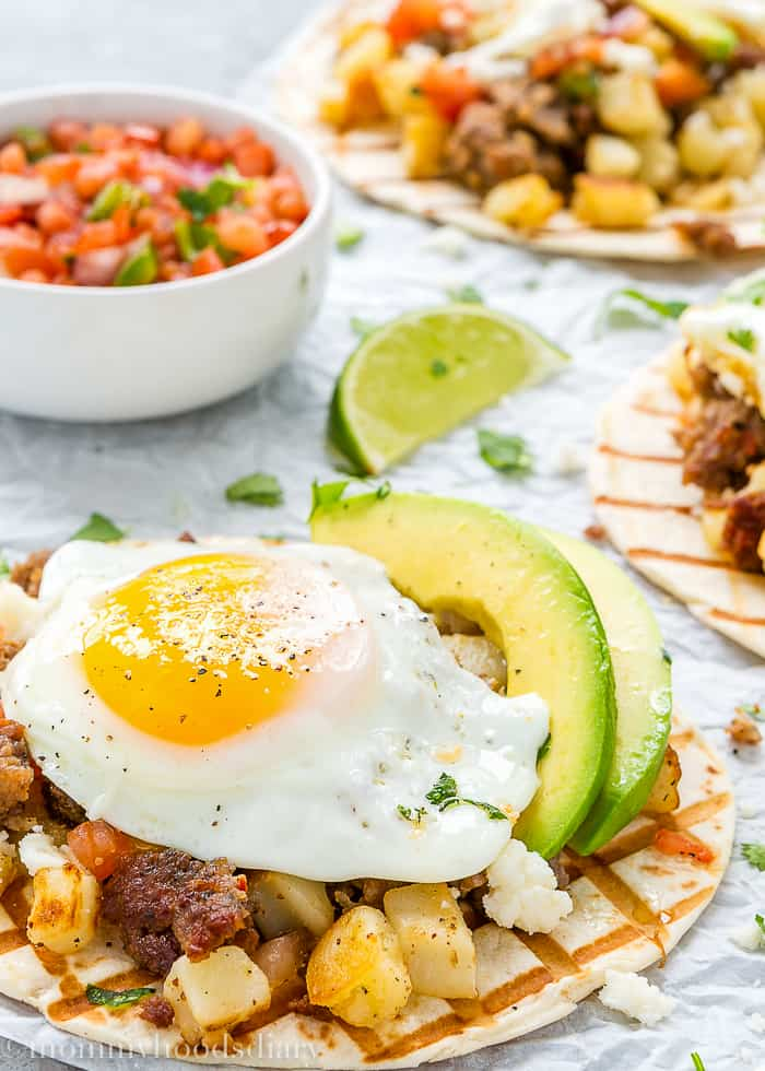 Sausage and Potatoes Breakfast Tacos-1