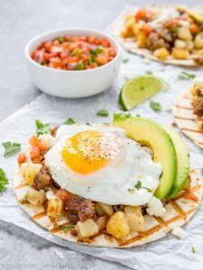 Sausage and Potato Breakfast Tacos