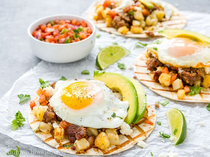 Sausage and Potatoes Breakfast Tacos-4
