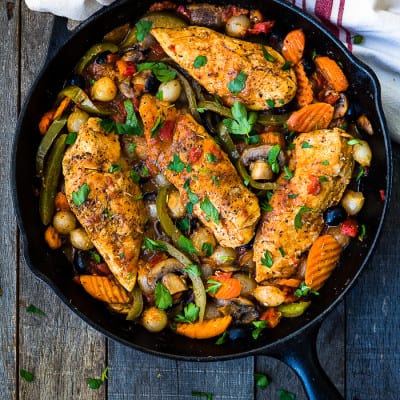 Easy Cacciatore Chicken Breasts