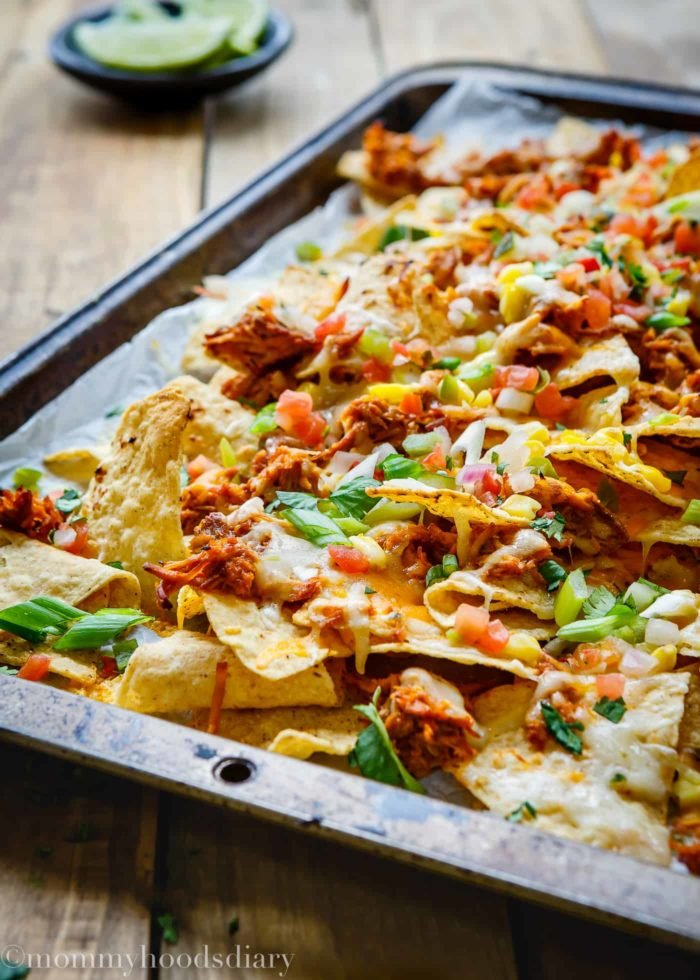Tequila Barbecue Chicken Nachos-3