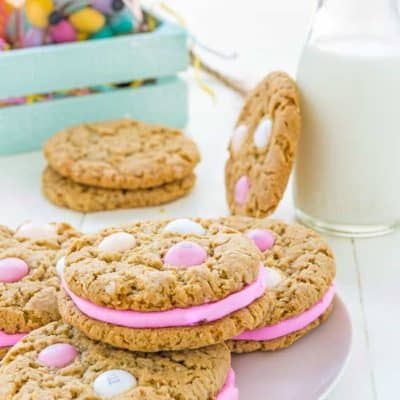 Eggless Easter Oatmeal Sandwich Cookies