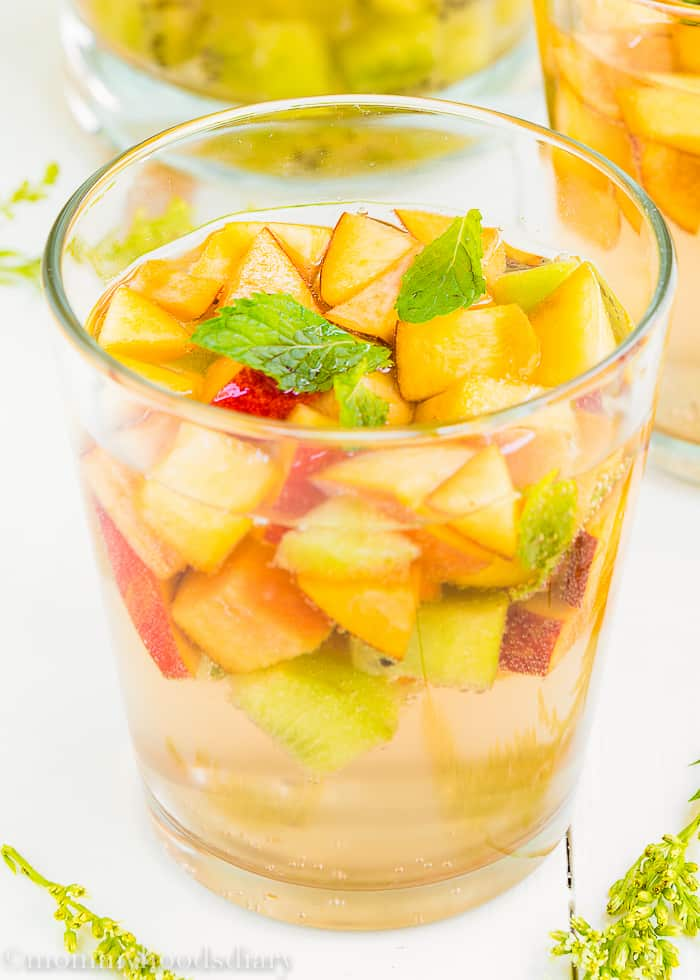 Sparkling Fruit White Sangria - Mommy's Home Cooking