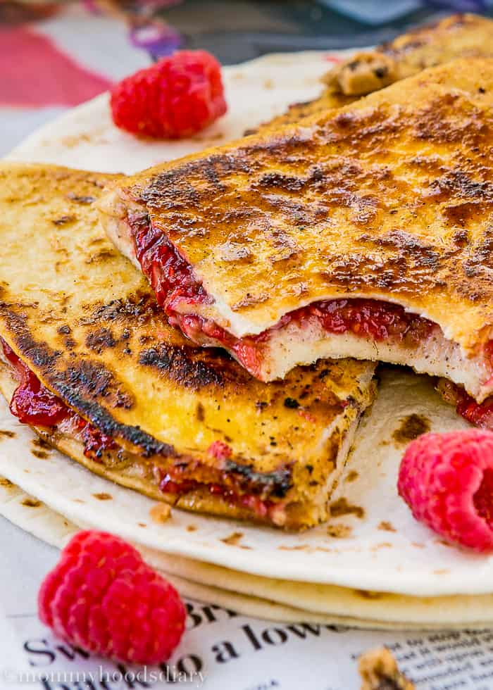 Sweet Raspberry Chocolate Chip Quesadilla-7