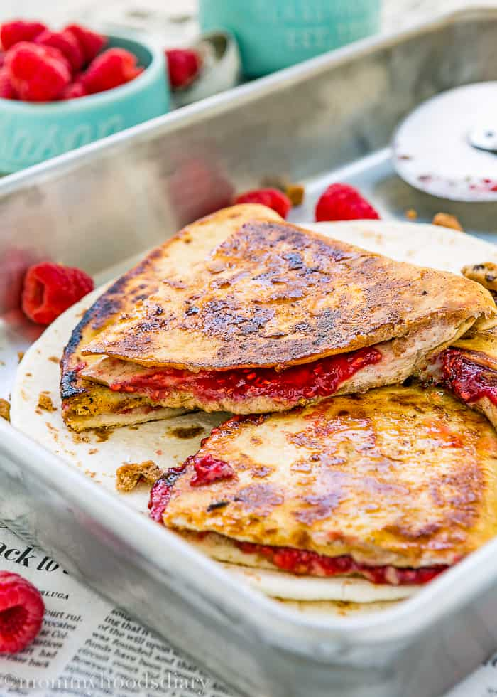 Sweet Raspberry Chocolate Chip Quesadilla-8