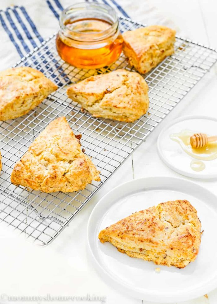 Honey Bacon-Cheddar Scones-6