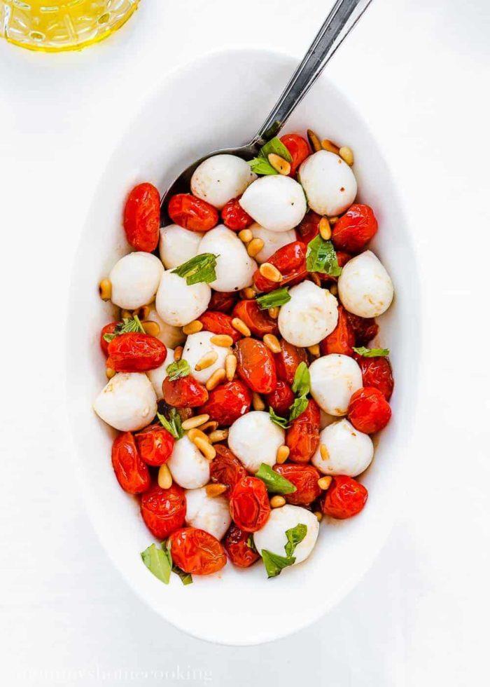 Roasted Tomato Caprese Salad-4