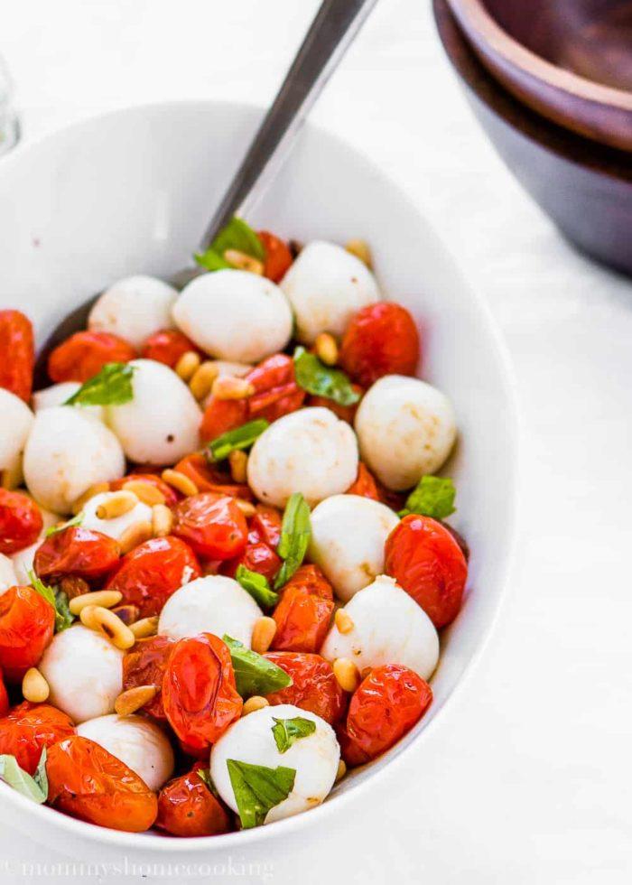 Roasted Tomato Caprese Salad-8