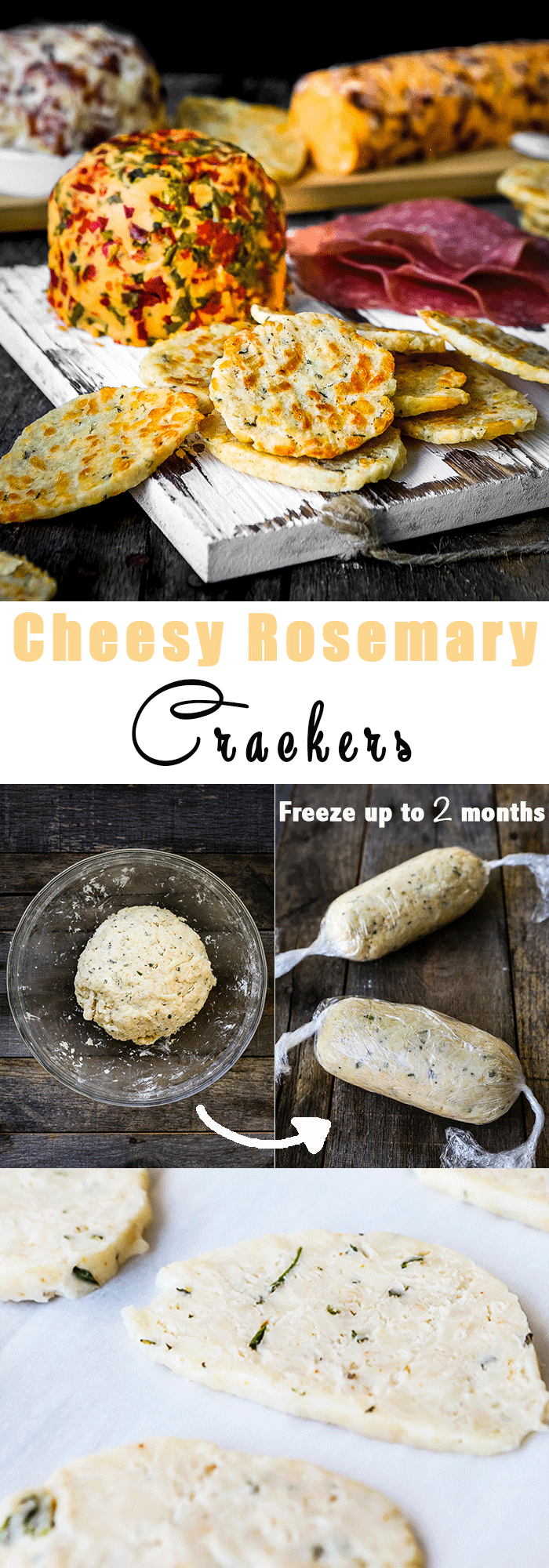 Swiss Cheese Rosemary Crackers | Mommy's Home Cooking