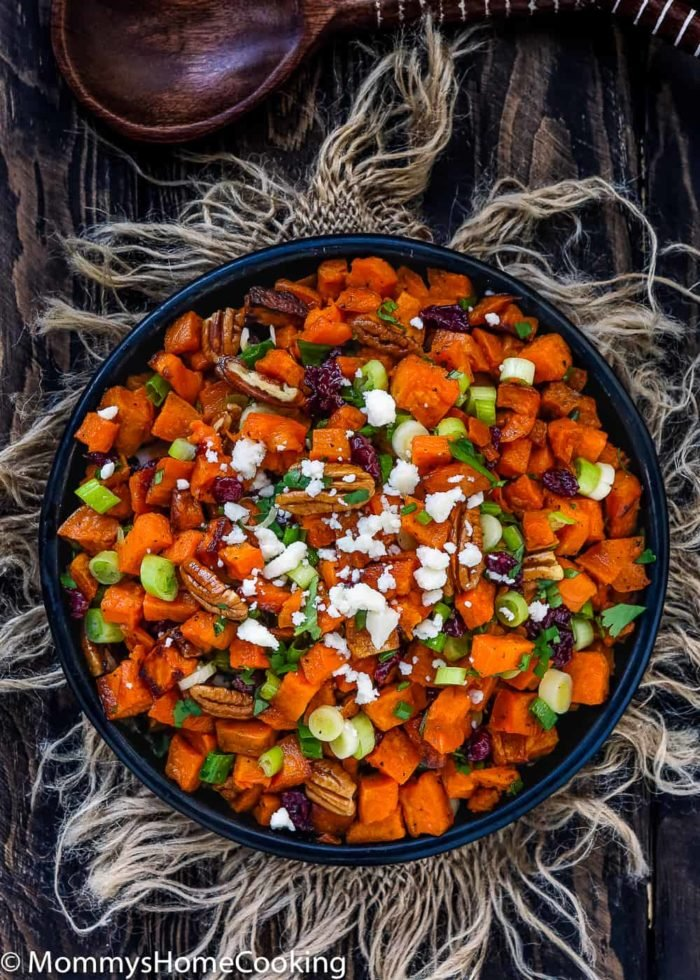 Roasted Sweet Potato and Cranberry Salad-5