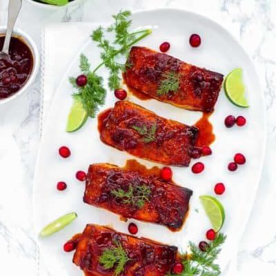 Cranberry Honey Glazed Salmon