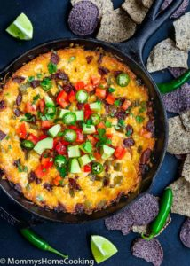 Easy Queso Fundido with Chorizo and Avocado