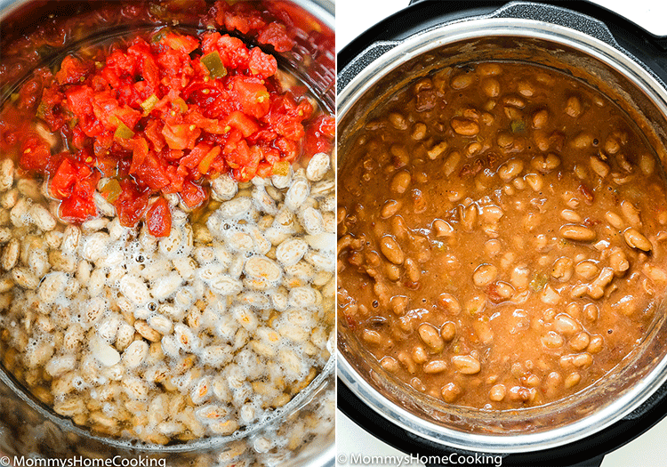 These Instant Pot Drunken Beans are seriously savory, hearty, scrumptious, and are easily made in 30 min! This makes a wickedly delicious big batch, so if you have leftover…smile. http://mommyshomecooking.com