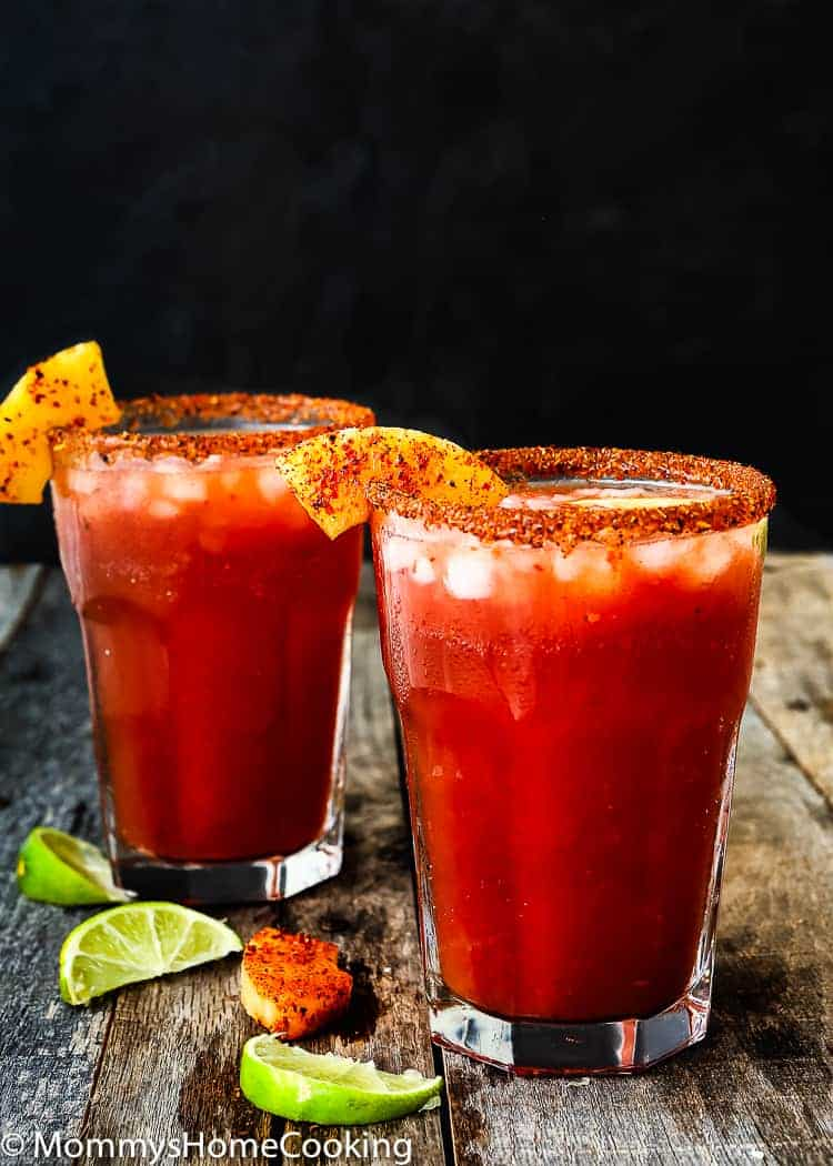 This Pineapple Michelada is the perfect beer cocktail for summer!! It has it all going on: savory, spicy, sweet and tart. So good, and so easy! http://mommyshomecooking.com