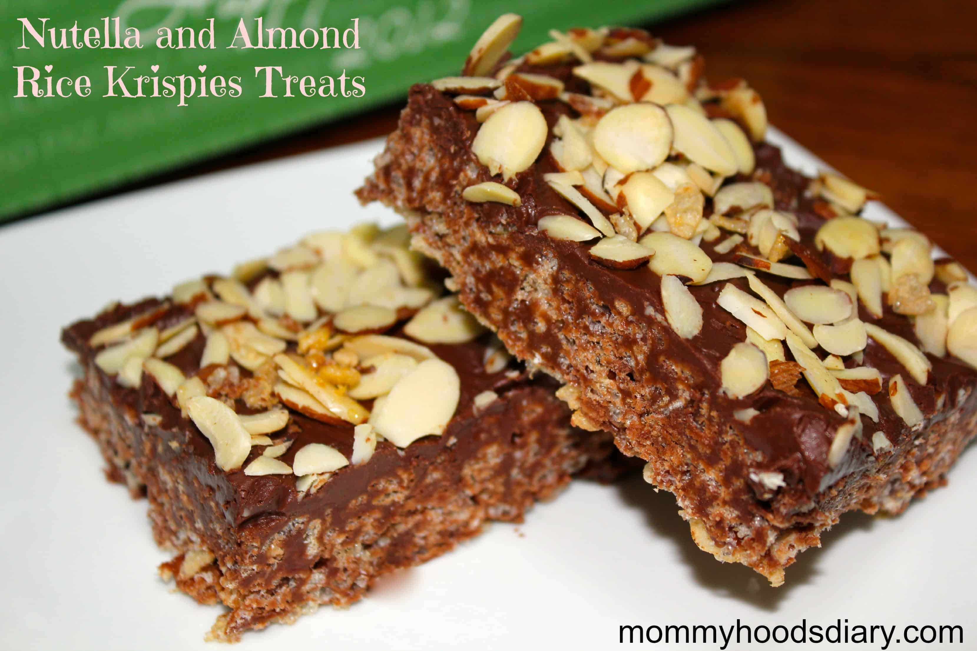 Nutella and Almond Rice Krispies Treats