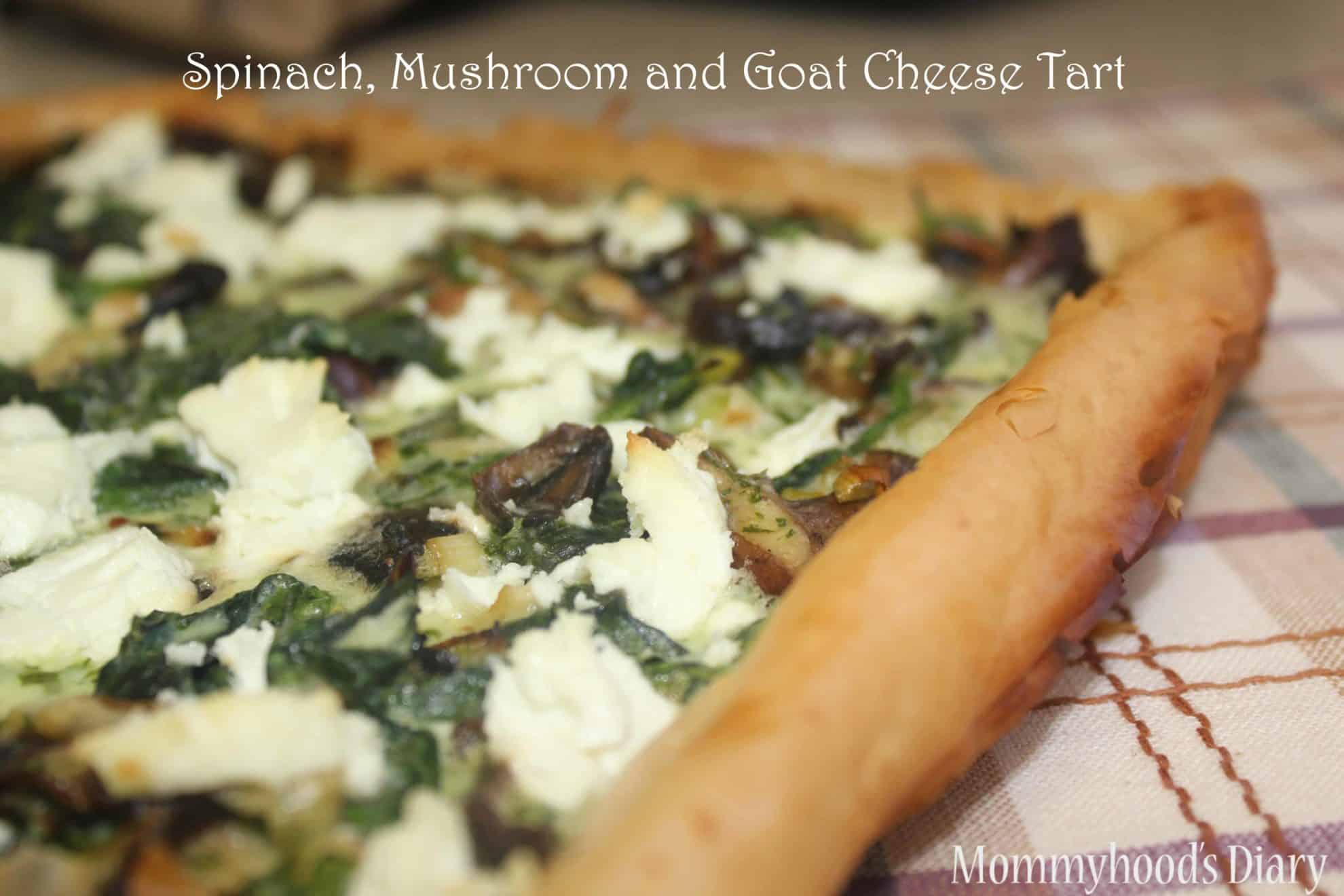 Spinach, Mushroom and Goat Cheese Tart