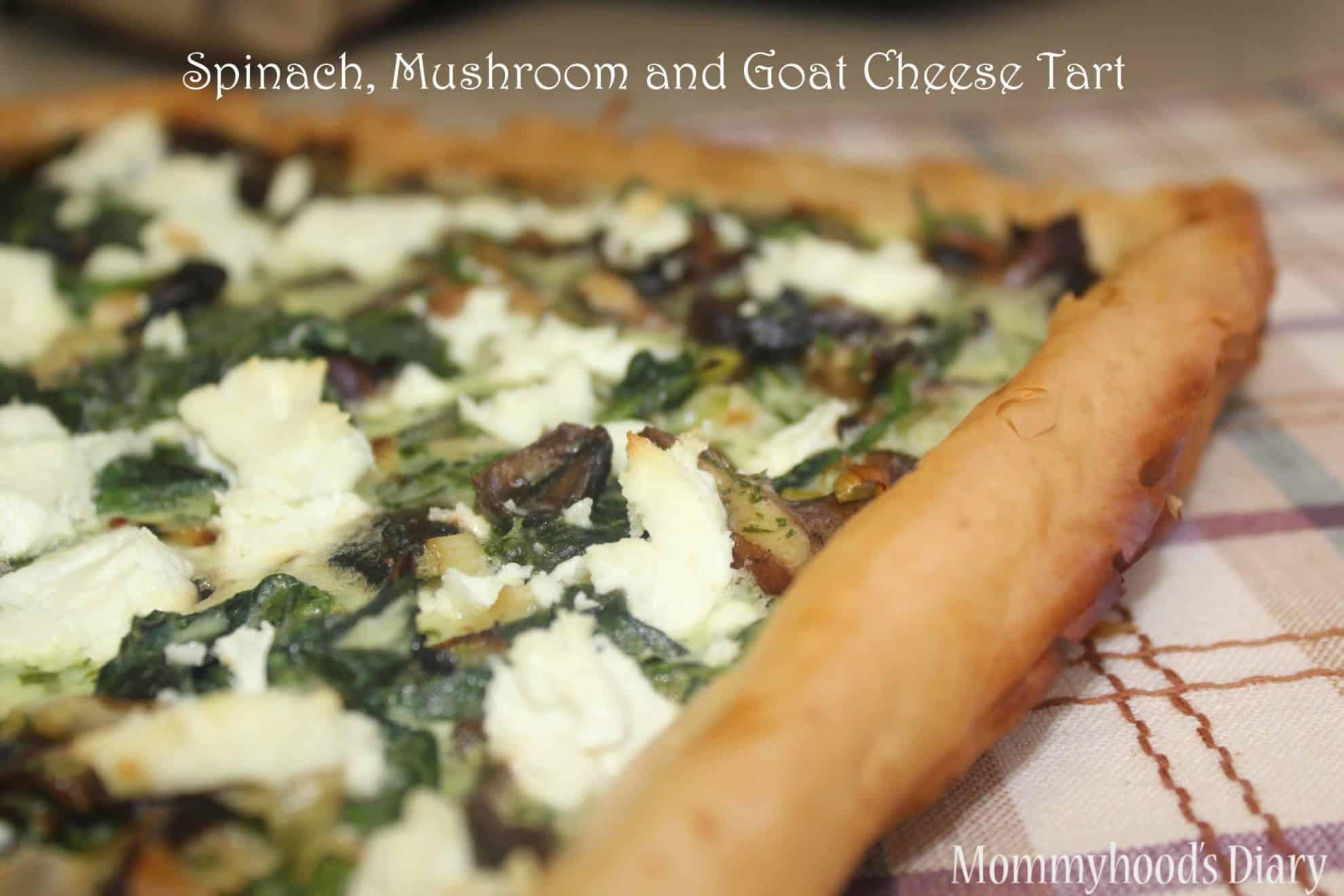 Spinach, Mushroom and Goat Cheese Tart